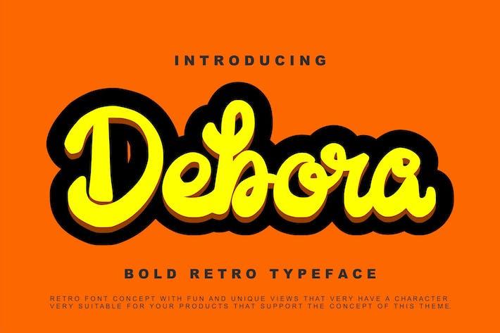 Thumbnail for Debora - Retro Handwritten Script