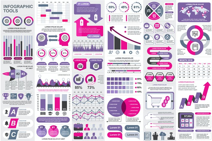 Thumbnail for Presentation Infographic Elements Template