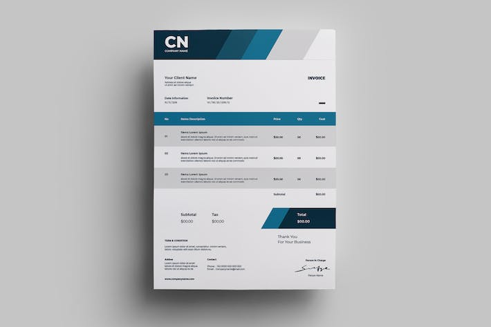 Thumbnail for Invoice Design Templates.08