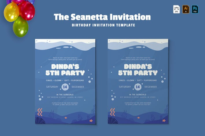 Thumbnail for Seanetta | Birthday Invitation
