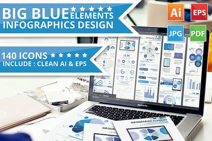 Thumbnail for Схема дизайна инфографических элементов Big Blue V.5
