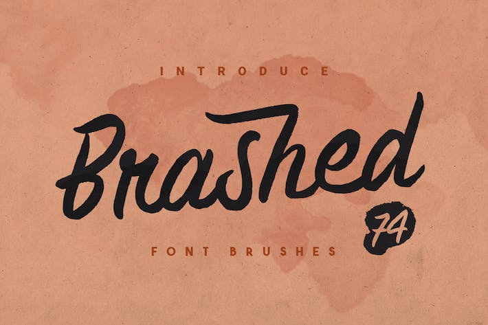 Thumbnail for Brashed Typeface