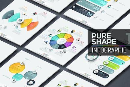 Pure Shape Infographics. Part 1