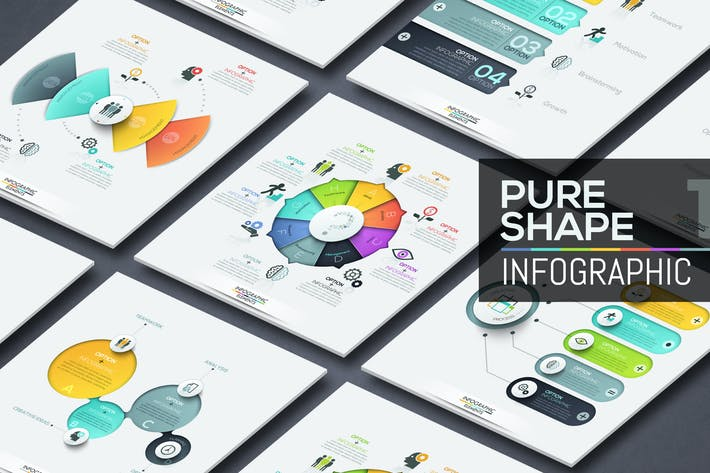Thumbnail for Pure Shape Infographics. Part 1