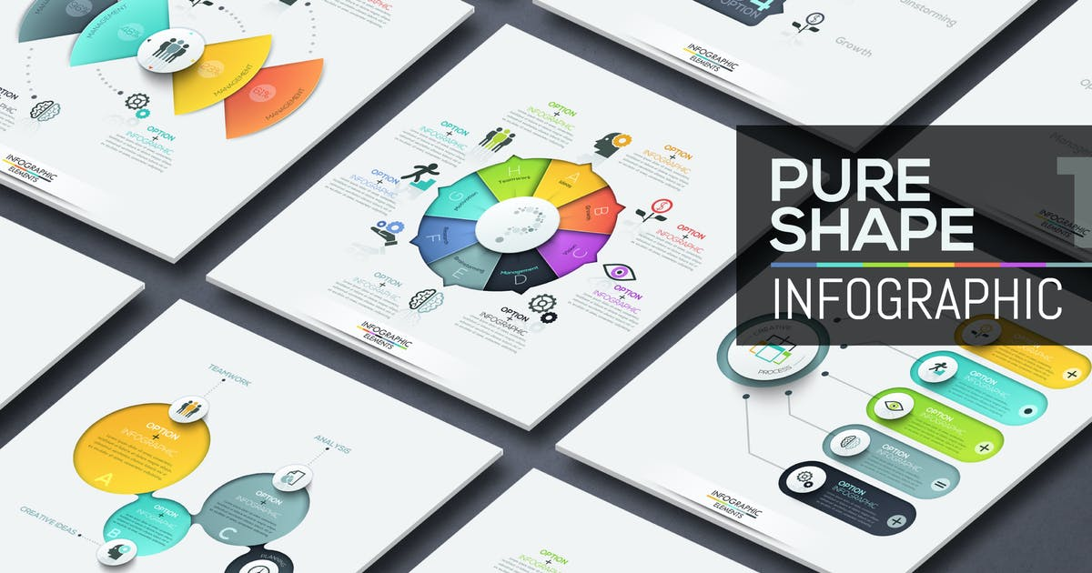 Pure Shape Infographics. Part 1 by Andrew_Kras