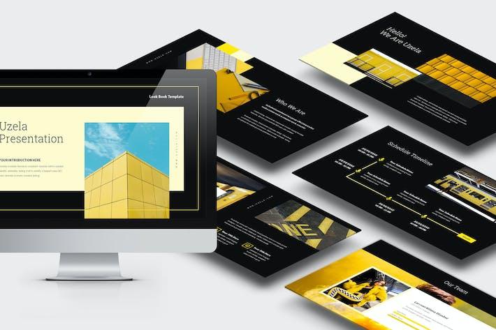 Thumbnail for Uzela: Желтый градиент цветной тон Powerpoint