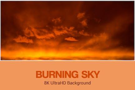 8K UltraHD Burning Sky Fondo
