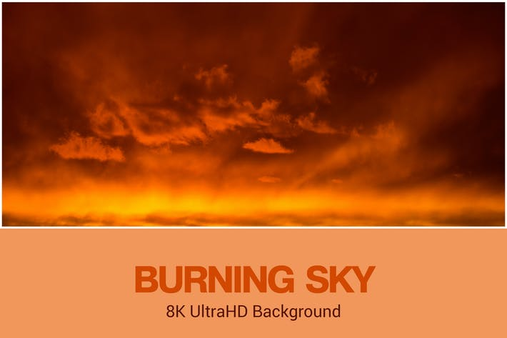 Thumbnail for 8K UltraHD Burning Sky Background