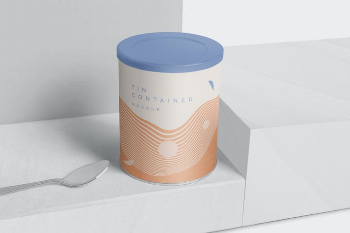Thumbnail for Tin Container Mockups