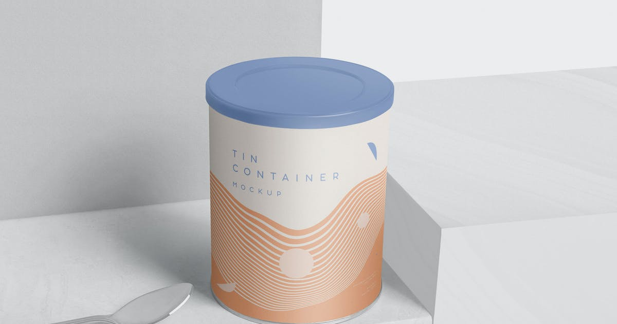 Download Tin Container Mockups by GfxFoundry