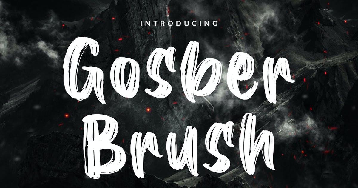 Download Gosber Brush Font by kotakkuningstudio