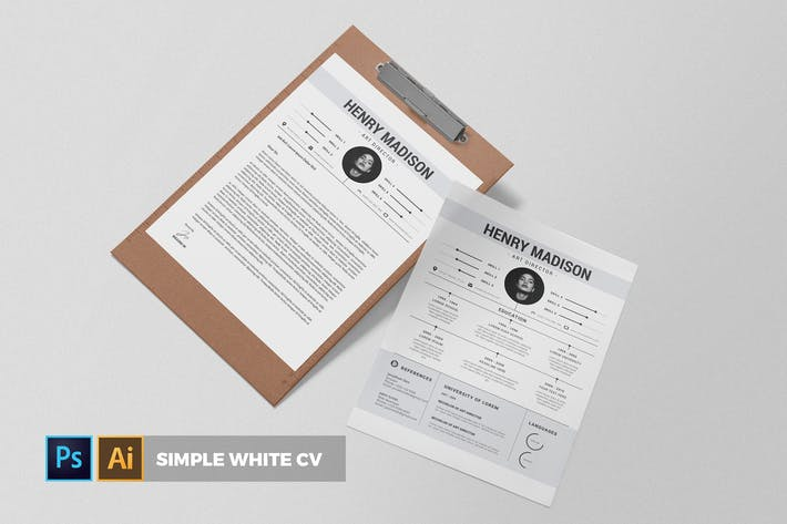 Thumbnail for Simple White | CV & Resume