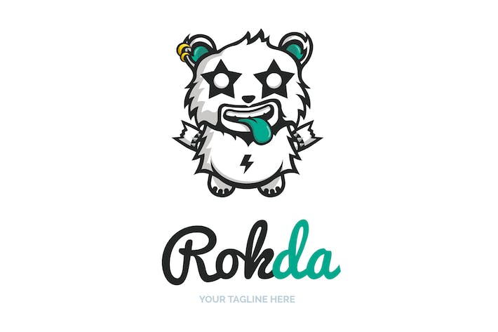 Thumbnail for Rock Panda Logo Template