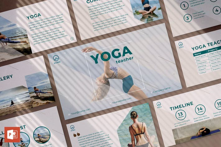 Thumbnail for Yoga Instructor PowerPoint Presentation Template
