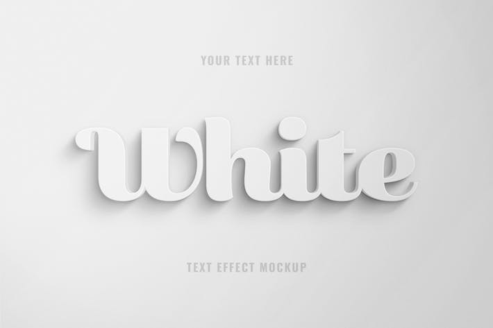 Thumbnail for White 3D Text Effect