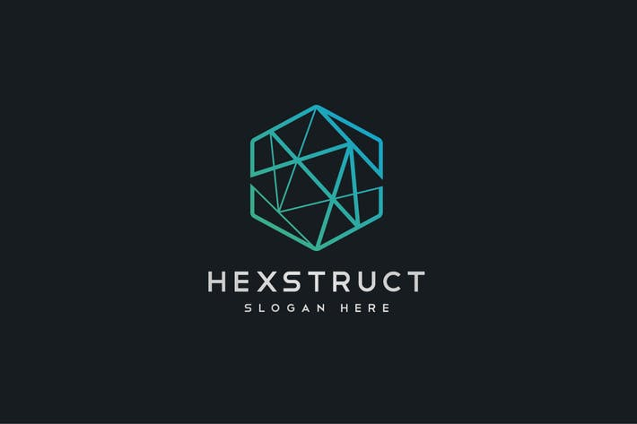Thumbnail for Abstract Hexagon Geometric Structure Logo