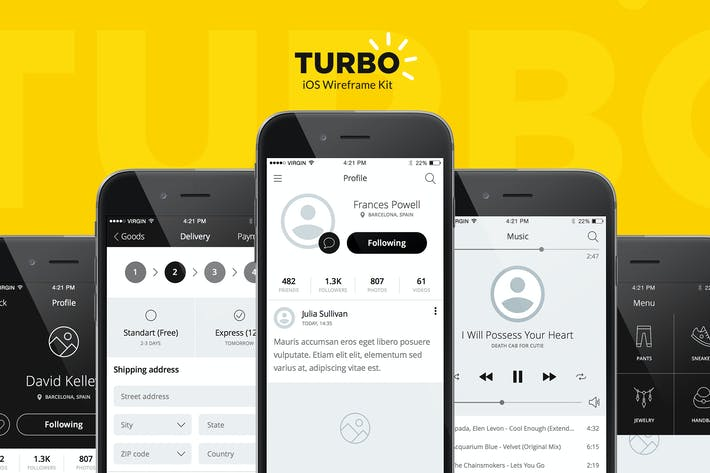 Thumbnail for Turbo iOS Wireframe Kit