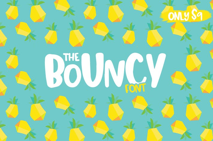 Thumbnail for Bouncy Font