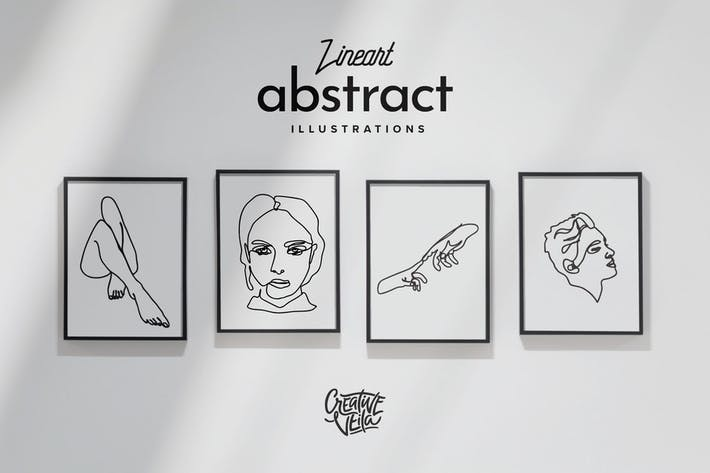 Thumbnail for Lineart Abstract Vector Illustrations