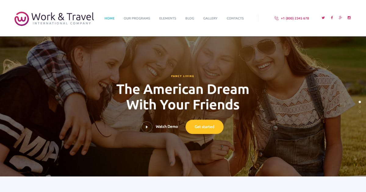 Download Work & Travel Company & Youth Programs WP Theme by ThemeREX