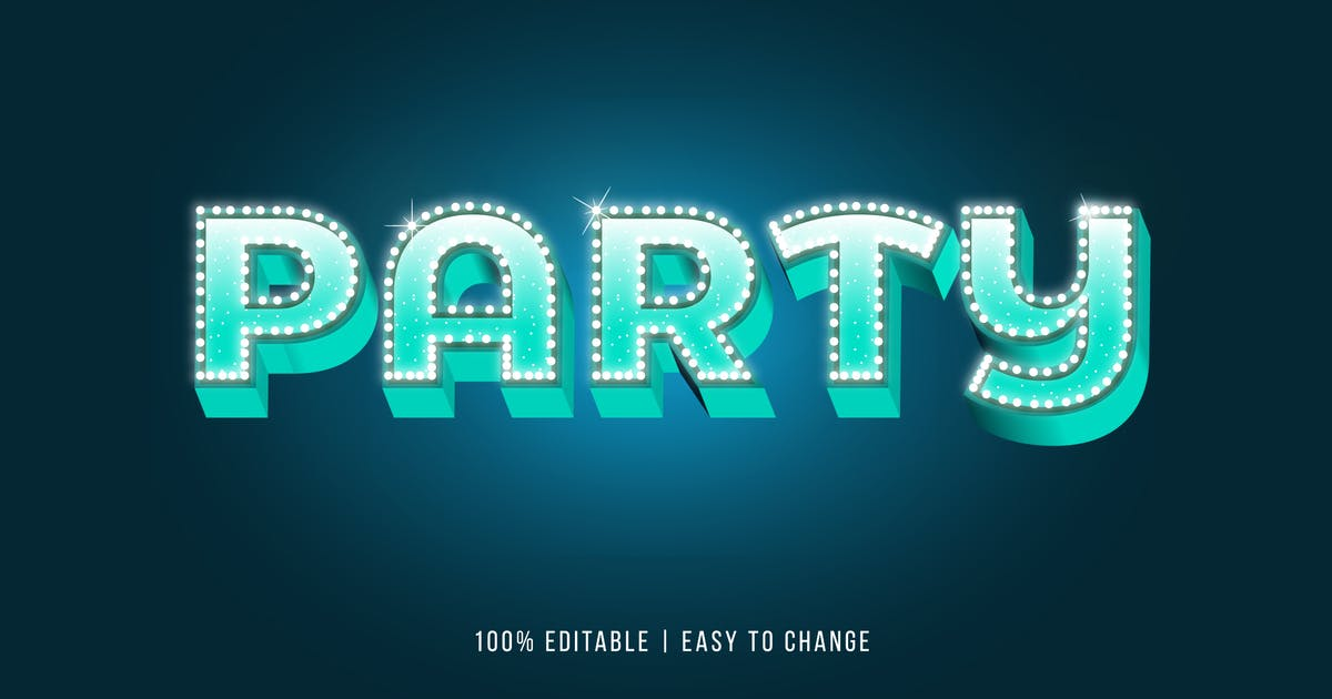 Download Party Lamp - EPS Text Effect by modaldesain