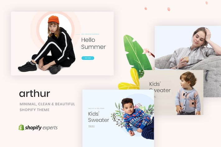 Cover Image For Arthur | Minimal, Clean & Beautiful Shopify Theme