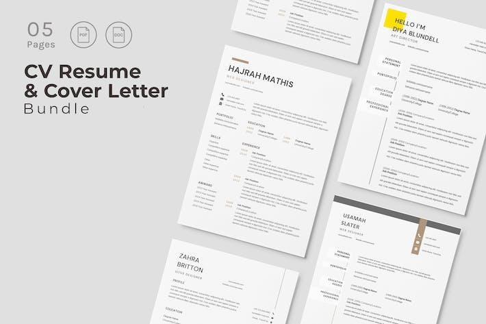 Thumbnail for Luxury CV Resume Design