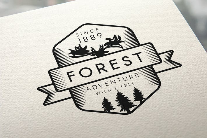 Thumbnail for Vintage Forest Moose Badge