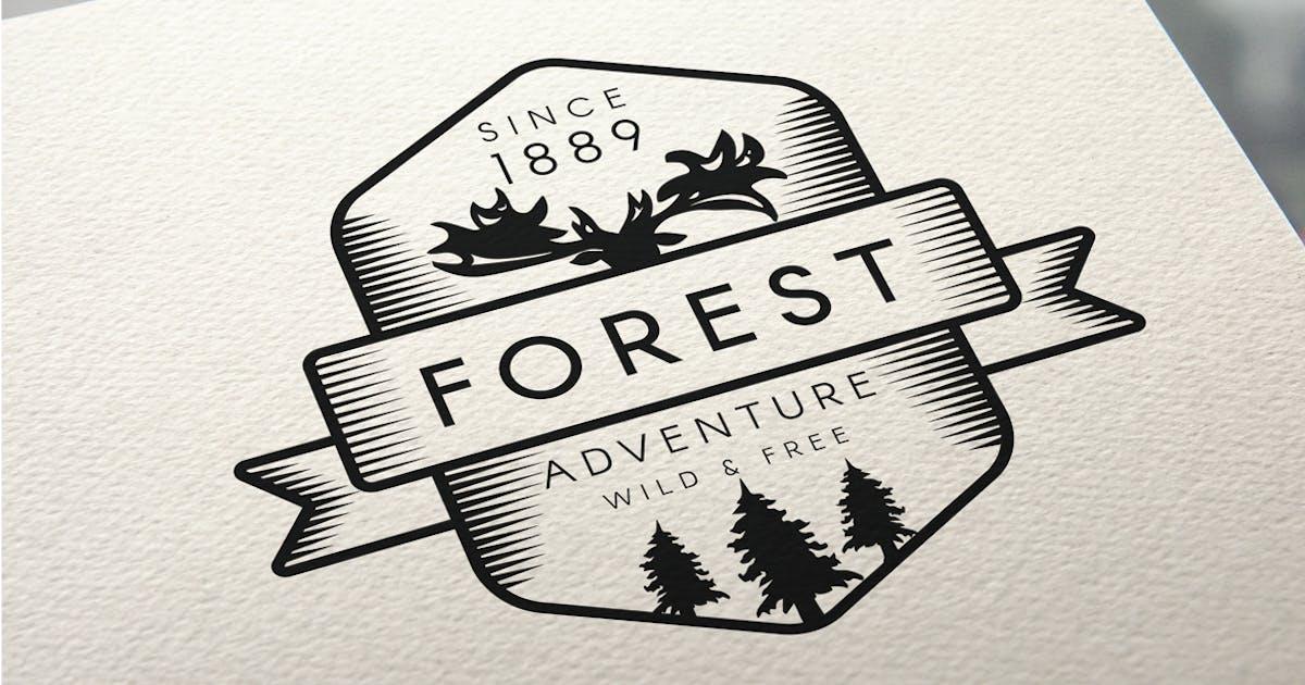 Download Vintage Forest Moose Badge by barsrsind