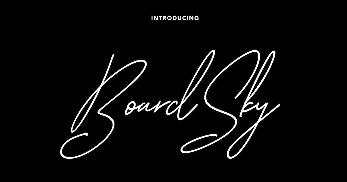 Download Boardsky Monoline Signature Font by maulanacreative