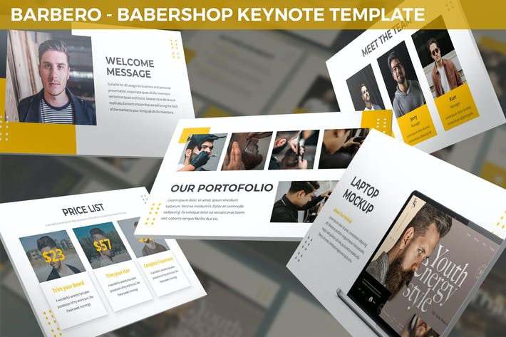 Thumbnail for Barbero - Barbershop Keynote Template