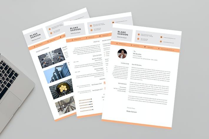 Thumbnail for CV Half Resume Designer