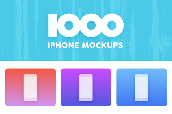 Thumbnail for 1000 White iPhone Mockups