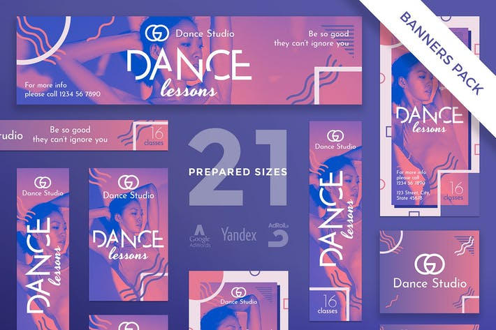 Thumbnail for Plantilla de paquete Banner clases de Baile