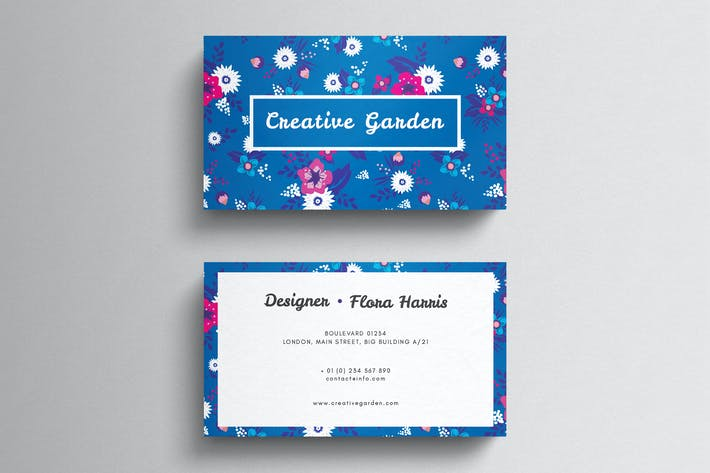 Wild flower business card template by 83oranges on envato elements thumbnail for floral business card template accmission Choice Image