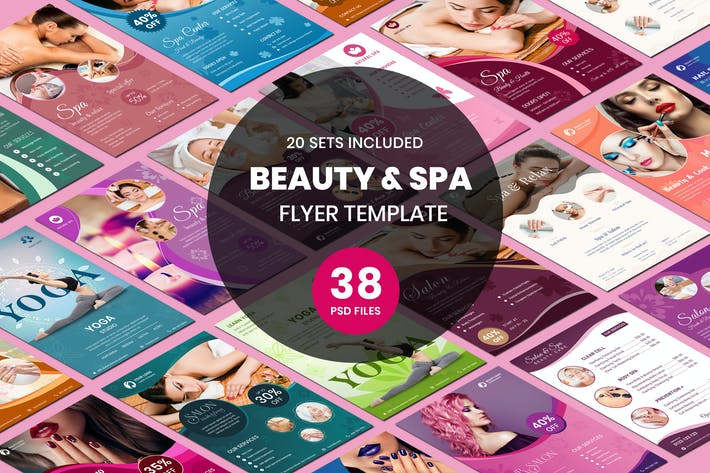 Thumbnail for Beauty & Spa Flyer Two Sided Price List