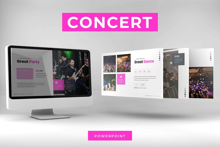 Thumbnail for Концерт - Шаблон Powerpoint
