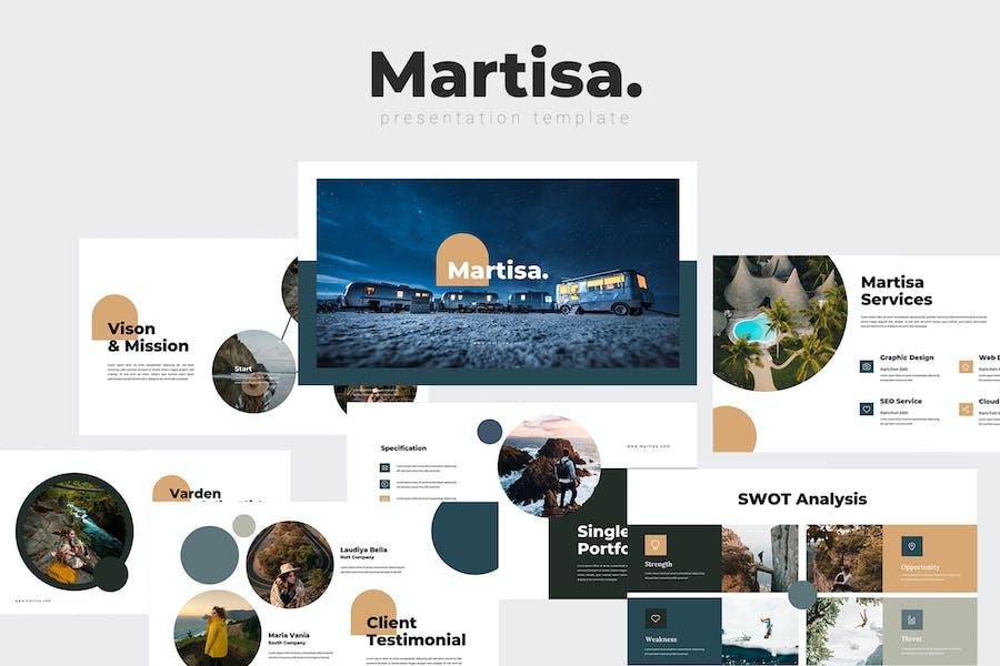 Martisa - Travel Google Slides Template