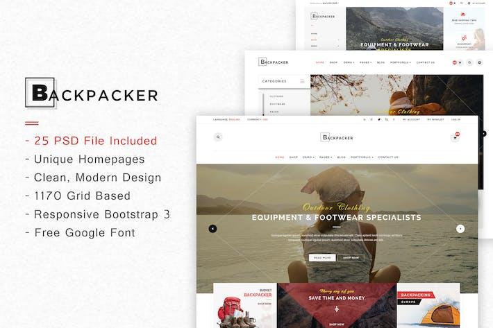 Thumbnail for BackPacker - Multipurpose eCommerce PSD Template