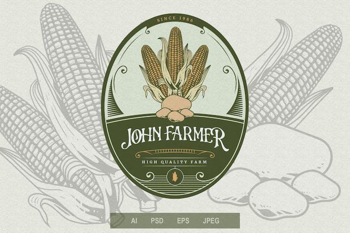Thumbnail for Vintage Emblem - Farming V4