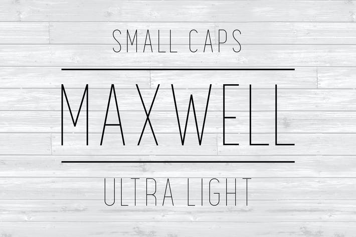 Thumbnail for Maxwell Sans Small Caps UltraLight