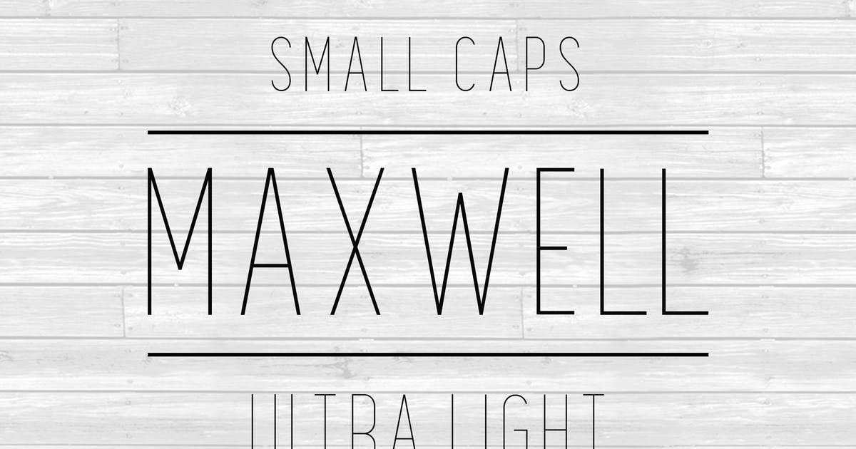 Download Maxwell Sans Small Caps UltraLight by kimmydesign