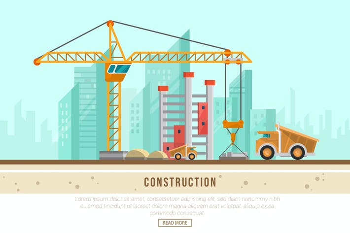 Thumbnail for Construction - Vector Landscape & Building