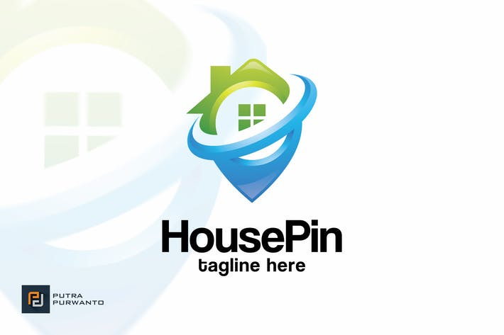 Thumbnail for House Pin - Logo Template
