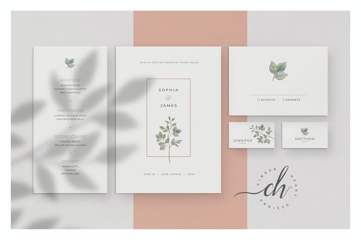 Nephrite - Wedding Invitation Suite