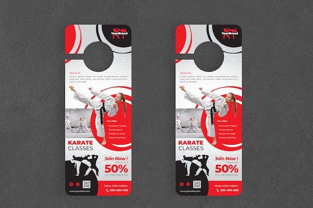 Karate Door Hanger Creative Promotion