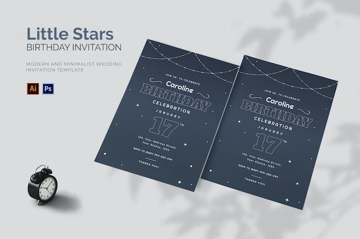 Thumbnail for Little Stars - Birthday Invitation