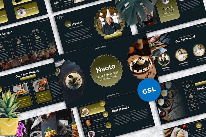 Naoto - Food & Beverages Googleslide  Templates