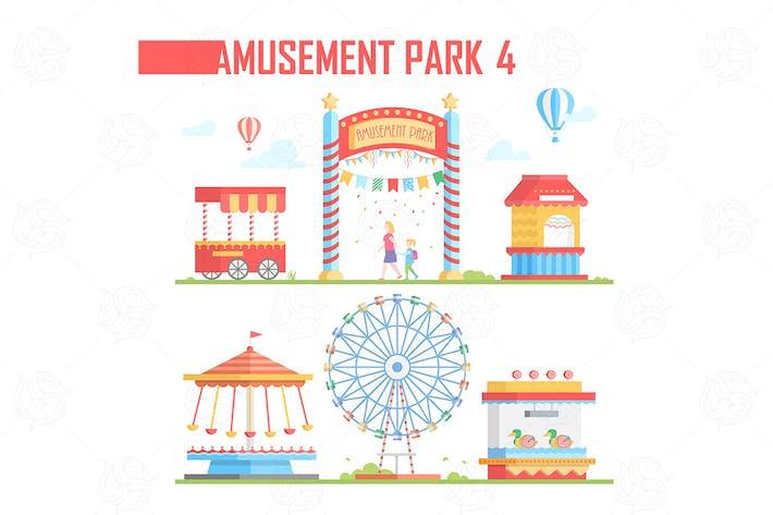 Thumbnail for Amusement park - vector set of elements