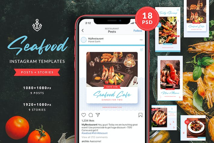 Thumbnail for Seafood Restaurant Instagram